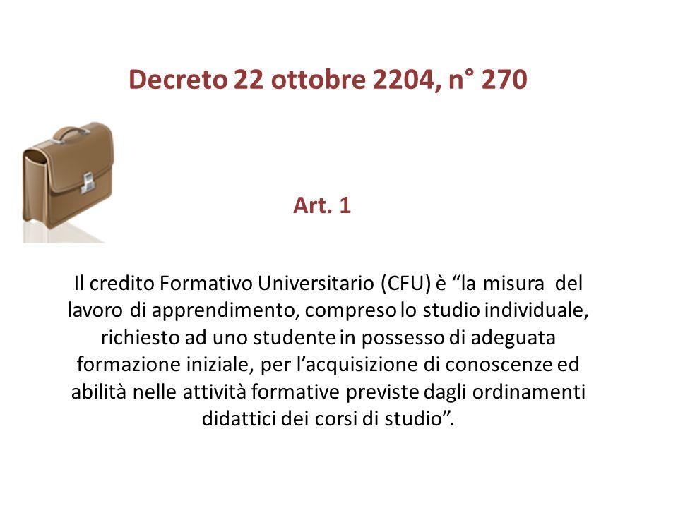Il credito Formativo Universitario (CFU) è la misura del lavoro di apprendimento, compreso lo studio individuale, richiesto ad uno studente in possess