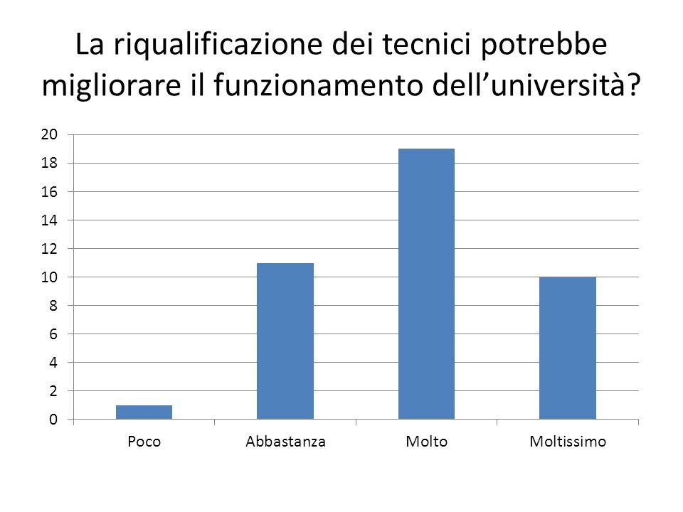 La riqualificazione dei tecnici potrebbe migliorare il funzionamento delluniversità