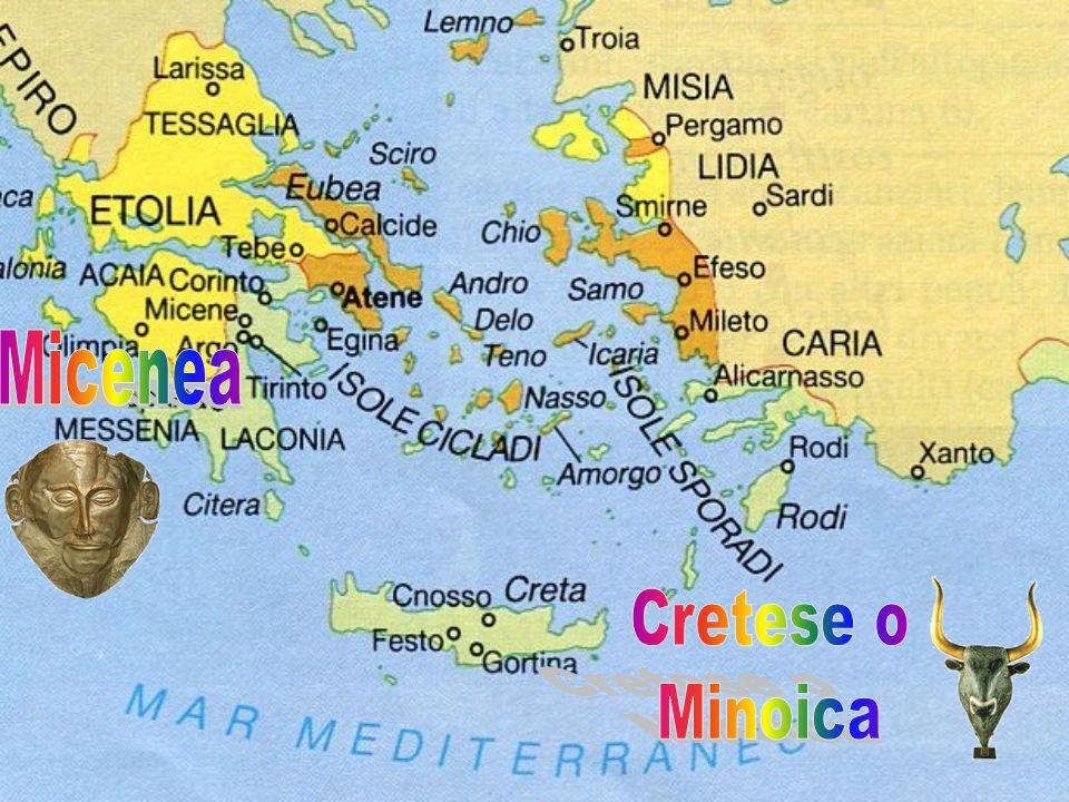 La civiltà cretese (detta anche civiltà minoica ) si sviluppò lungo le coste e nelle isole dell Egeo dal II millennio al 1400 a.C.