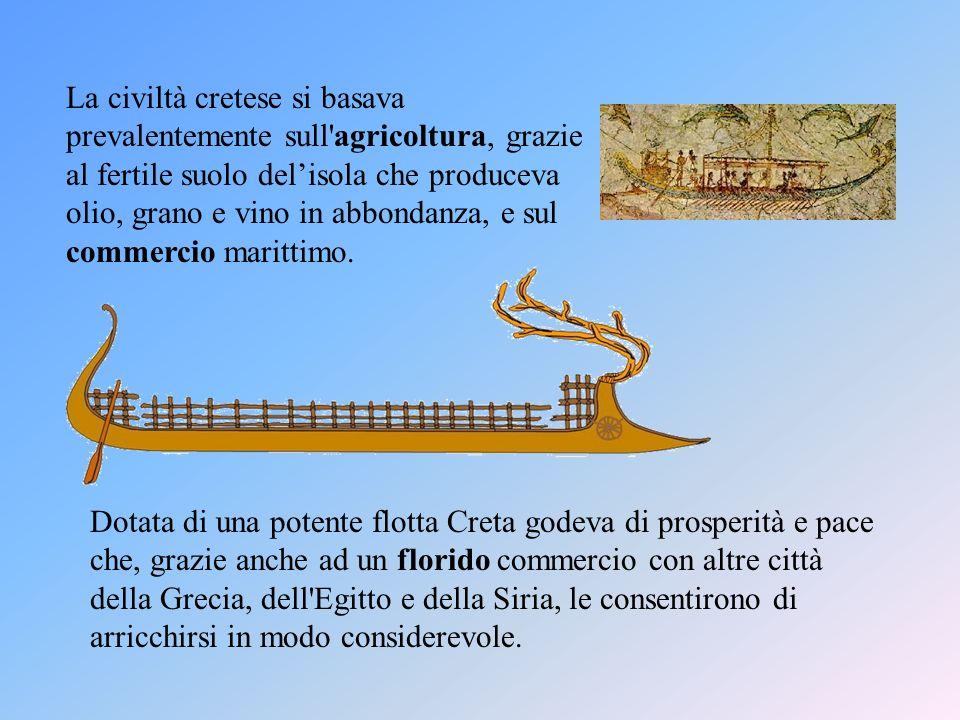 La popolazione viveva in numerosi villaggi e in una decina di città costruite in prevalenza lungo le coste, come Cnosso, Mallia, Gournià.