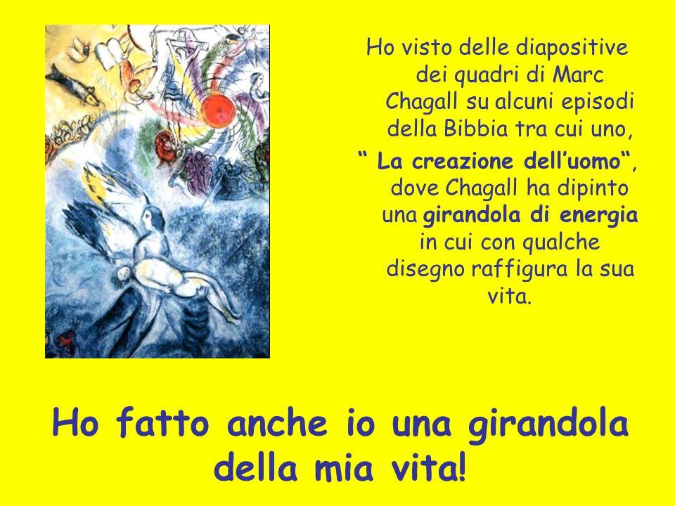 Ho fatto anche io una girandola della mia vita! Ho visto delle diapositive dei quadri di Marc Chagall su alcuni episodi della Bibbia tra cui uno, La c