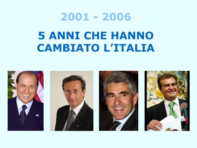 2001 - 2006 5 ANNI CHE HANNO CAMBIATO LITALIA