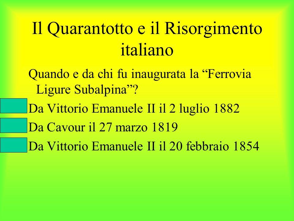 Il Quarantotto e il Risorgimento italiano Quando fu proclamato il Regno dItalia.