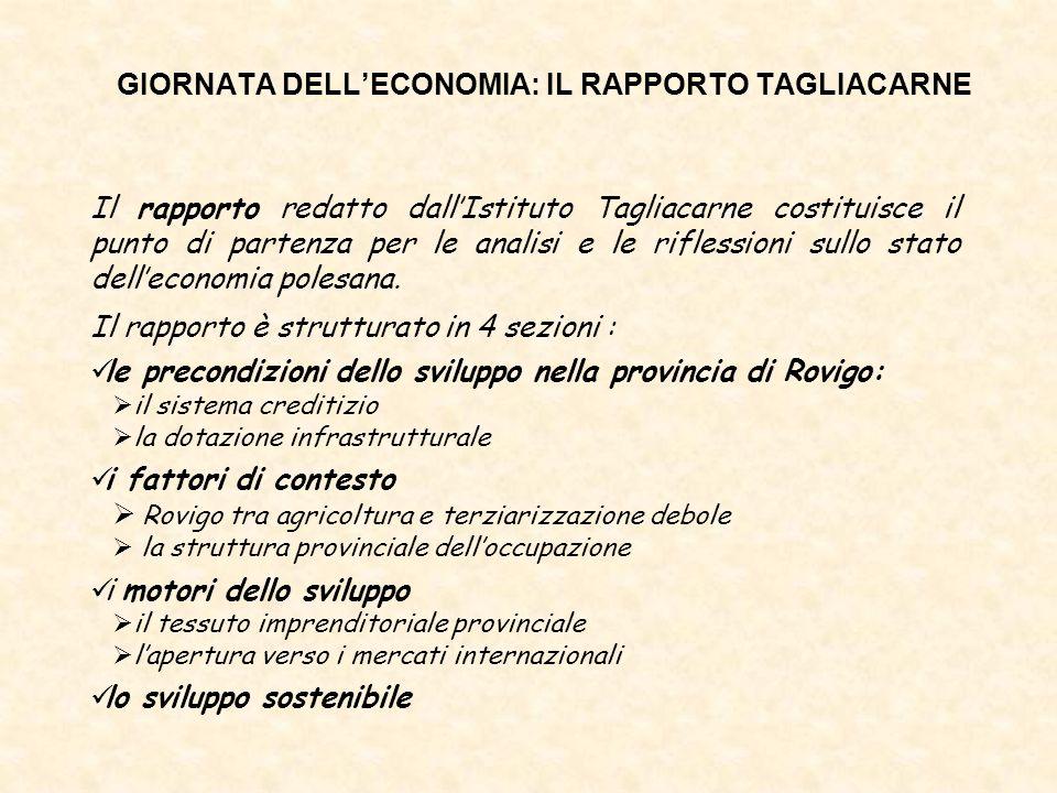 Il rapporto redatto dallIstituto Tagliacarne costituisce il punto di partenza per le analisi e le riflessioni sullo stato delleconomia polesana. Il ra