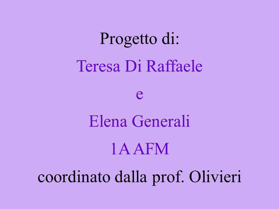 Progetto di: Teresa Di Raffaele e Elena Generali 1A AFM coordinato dalla prof. Olivieri