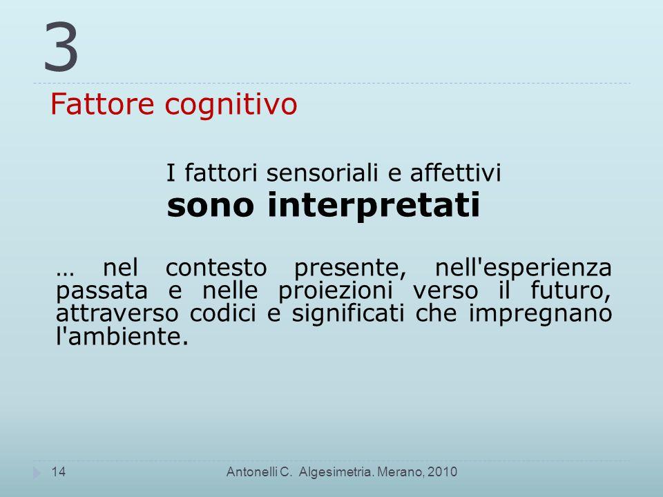 3 Fattore cognitivo Antonelli C.Algesimetria.