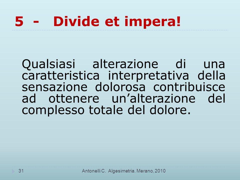 Antonelli C.Algesimetria.