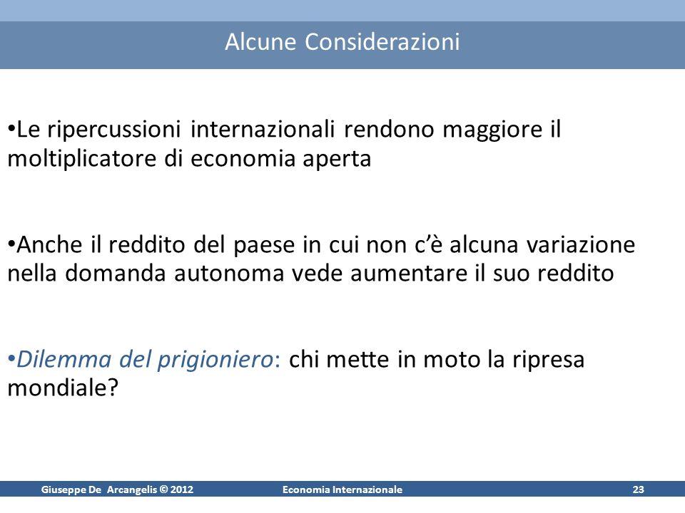 Giuseppe De Arcangelis © 2012Economia Internazionale24 Economie industrializzate ed emergenti nel ciclo economico
