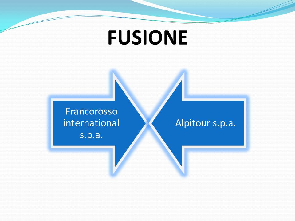 Francorosso international s.p.a. Alpitour s.p.a. FUSIONE