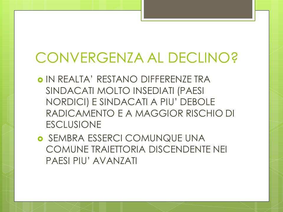 CONVERGENZA AL DECLINO.