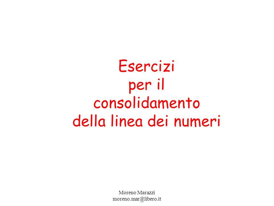Esercizi per il consolidamento della linea dei numeri Moreno Marazzi moreno.mar@libero.it