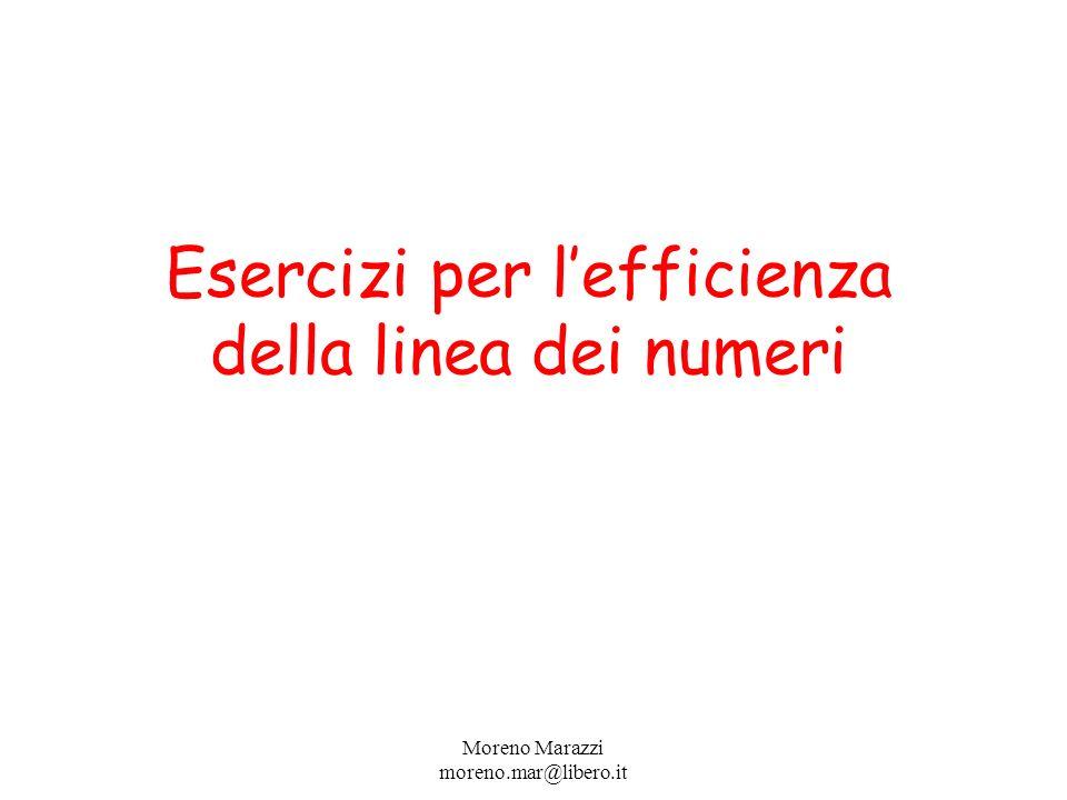 Esercizi per lefficienza della linea dei numeri Moreno Marazzi moreno.mar@libero.it