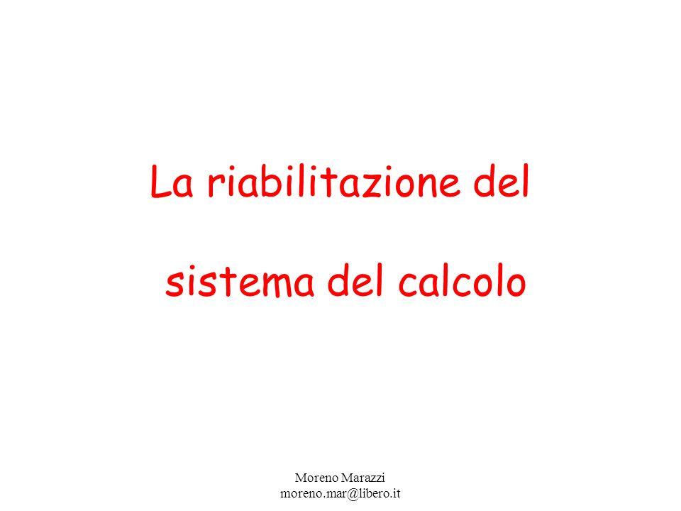 La riabilitazione del sistema del calcolo Moreno Marazzi moreno.mar@libero.it