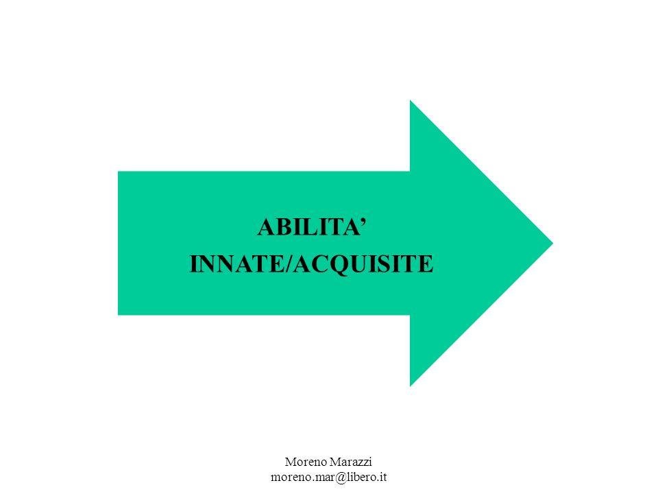 ABILITA INNATE/ACQUISITE