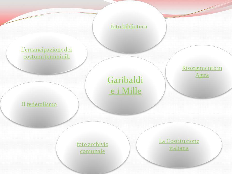 Lemancipazione dei costumi femminili Lemancipazione dei costumi femminili Il federalismofederalismo Il federalismofederalismo La Costituzione italiana