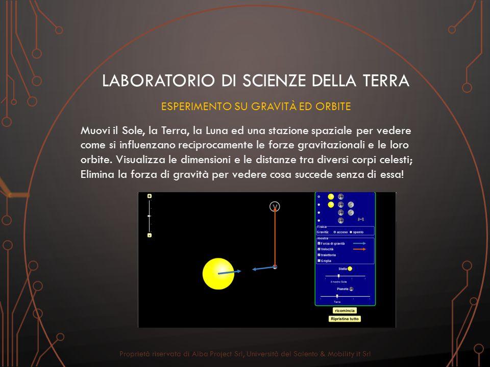 LABORATORIO DI SCIENZE DELLA TERRA Muovi il Sole, la Terra, la Luna ed una stazione spaziale per vedere come si influenzano reciprocamente le forze gr