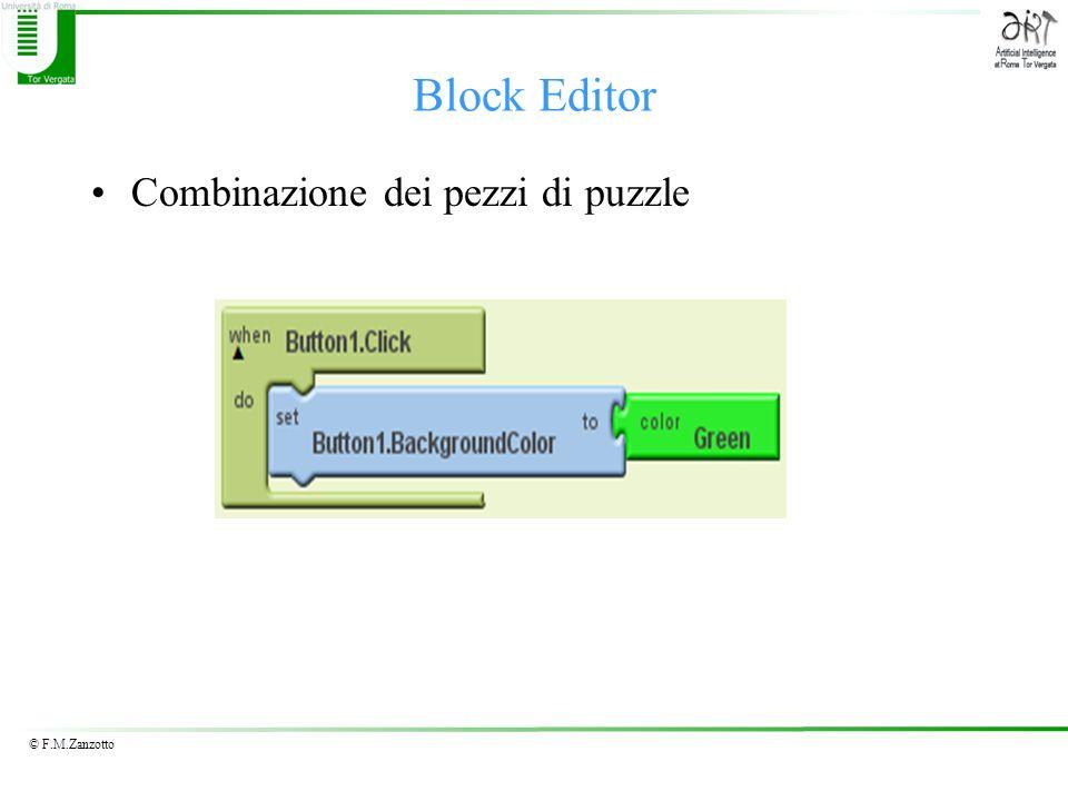 © F.M.Zanzotto Combinazione dei pezzi di puzzle Block Editor