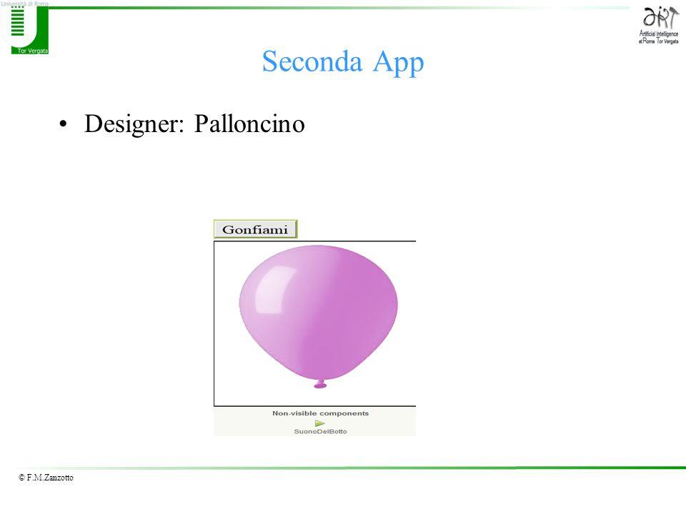 © F.M.Zanzotto Designer: Palloncino Seconda App
