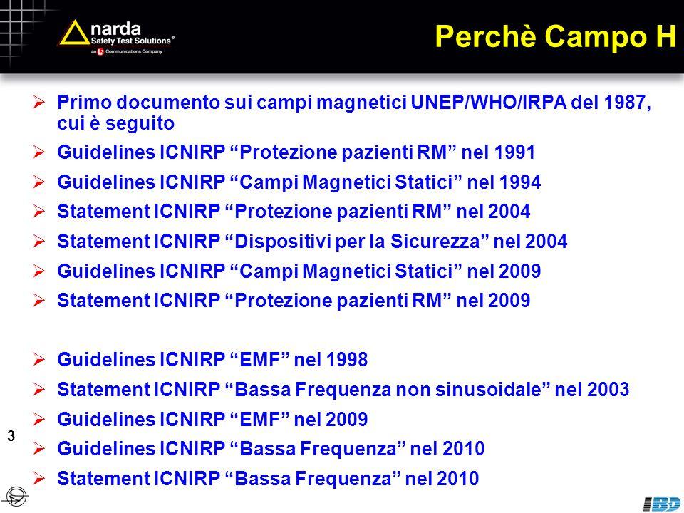 Sensori Campo E a condensatore Per campi variabili (in fotografia una sonda combinata E + H)