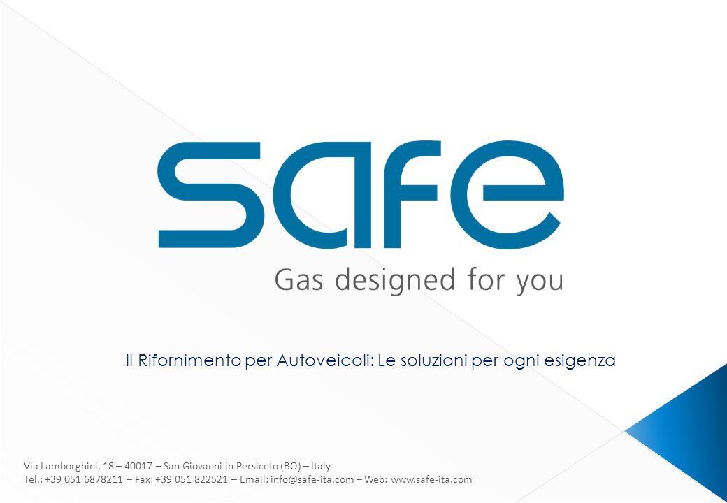 www.safe-ita.com Dal 2012 siamo parte del gruppo Landi Renzo Fondata nel 1974 Vendite in piu di 44 paesi 70 impiegati Area produttiva : 13.000 m 2 Capacità produttiva: 10 compressori per settimana 3000 compressori installati nel mondo Dal 2002 certificati ISO 9001 Dal 2007 Packager autorizzati di prodotti GE p.