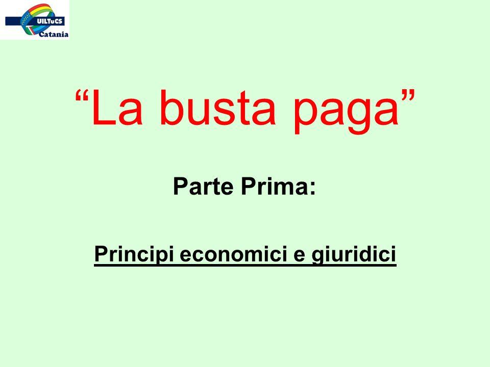 Parte Prima: Principi economici e giuridici