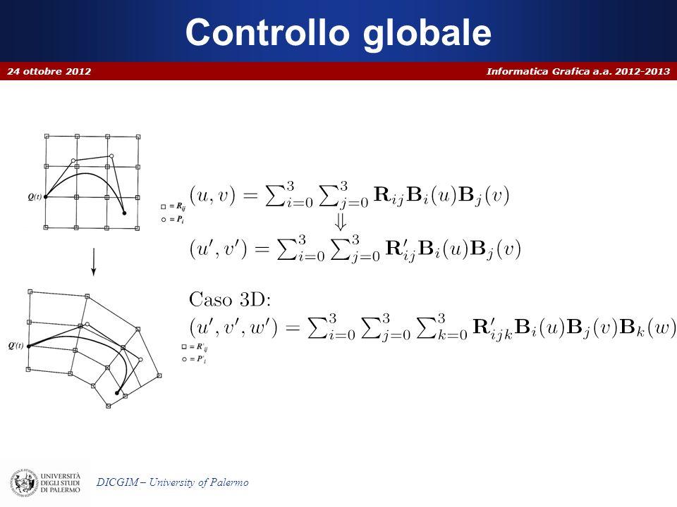 Informatica Grafica a.a. 2012-2013 DICGIM – University of Palermo Controllo globale 24 ottobre 2012