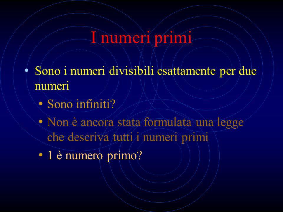 Numeri con la virgola (Q a ) finita Numeri con una quantità finita di cifre dopo la virgola infinita Numeri con una quantità infinita di cifre dopo la virgola che si ripetono con regolarità (periodici)