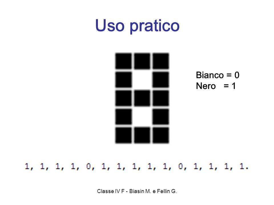 Bianco = 0 Nero = 1 Uso pratico