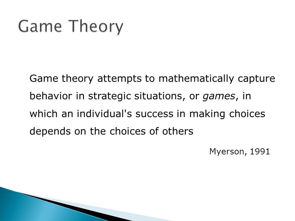 Zero-sum / Non-zero-sum games Un giocatore guadagna a spese dellaltro Le somme dei guadagni e delle perdite dei giocatori potrebbero essere differenti Cooperative / Non-cooperative games I giocatori possono cooperare oppure no
