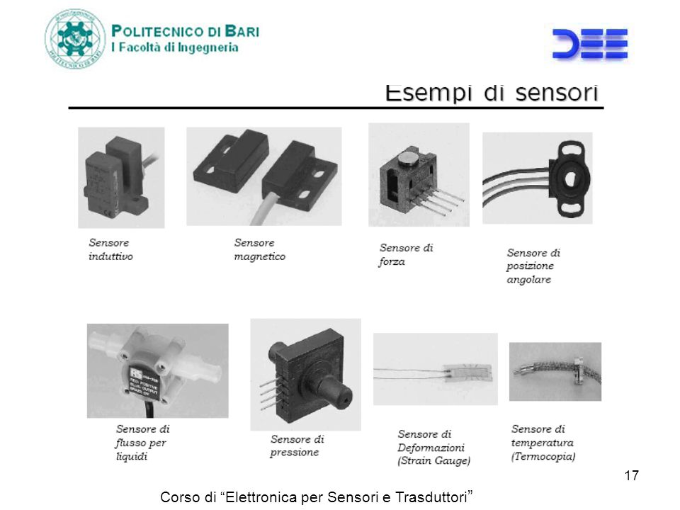 Corso di Elettronica per Sensori e Trasduttori 17