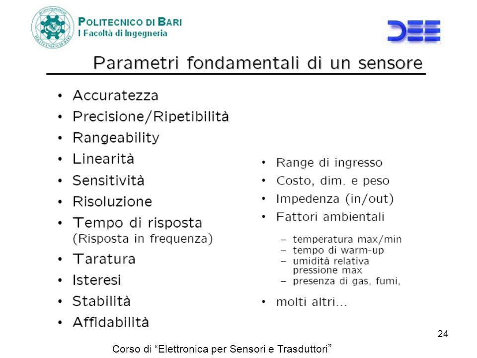 Corso di Elettronica per Sensori e Trasduttori 24