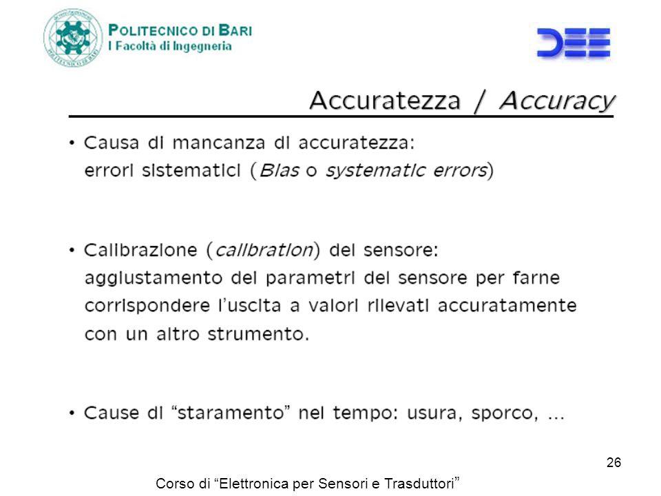 Corso di Elettronica per Sensori e Trasduttori 26