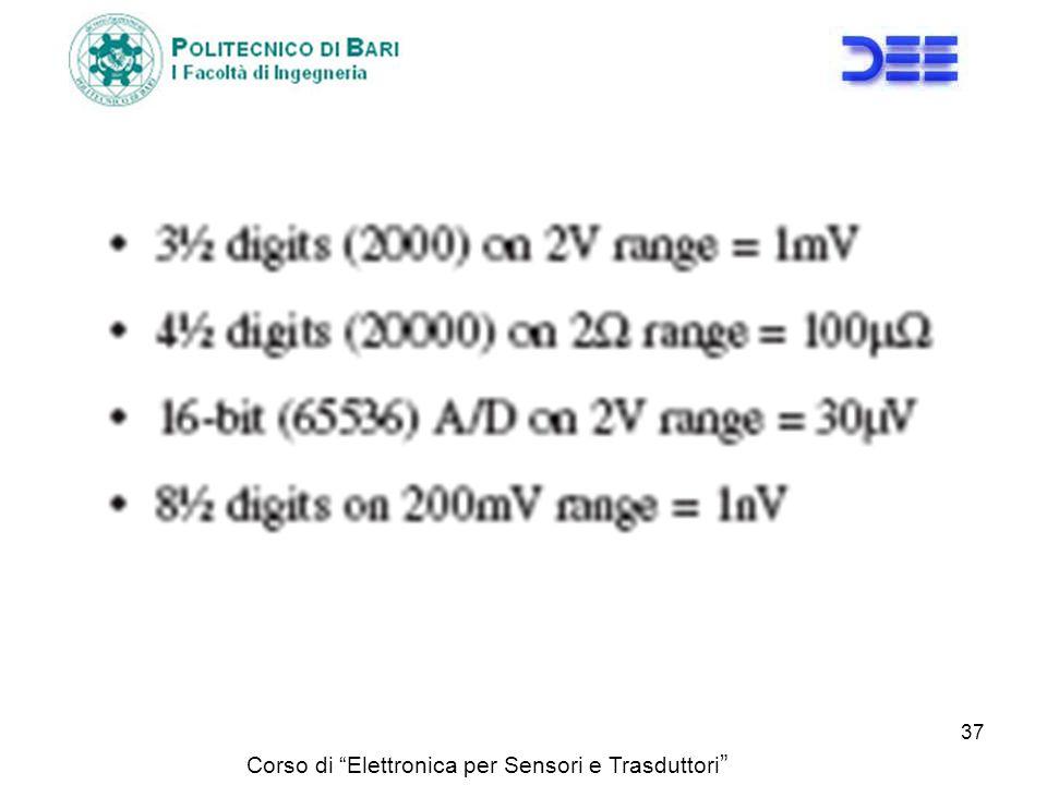 Corso di Elettronica per Sensori e Trasduttori 37
