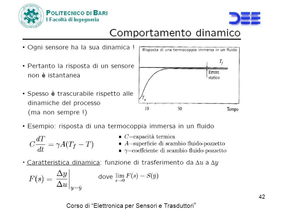 Corso di Elettronica per Sensori e Trasduttori 42