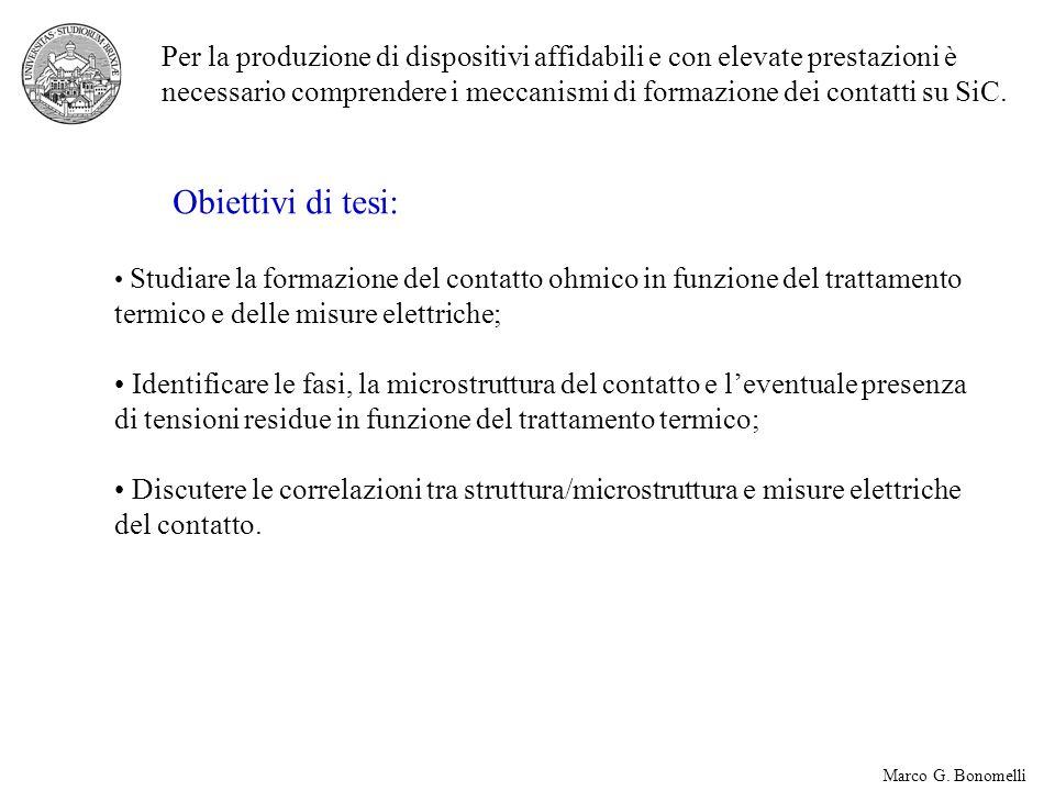 Marco G. Bonomelli Per la produzione di dispositivi affidabili e con elevate prestazioni è necessario comprendere i meccanismi di formazione dei conta