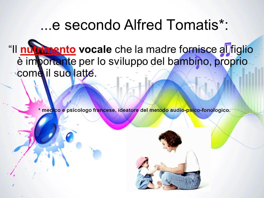 ...e secondo Alfred Tomatis*: Il nutrimento vocale che la madre fornisce al figlio è importante per lo sviluppo del bambino, proprio come il suo latte