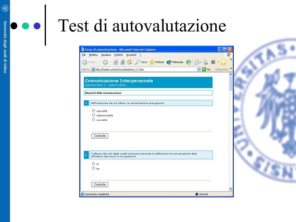 Il sito del corso contiene: –Materiali –Calendario –Risultati degli esami –Altre informazioni –Possibilità di discutere e ottenere un feedback dai doc