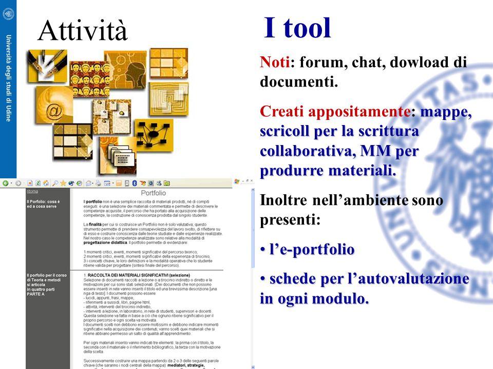 In ambiente on line avviene linterazione tra gli studenti la produzione dei materiali la discussione delle tematiche la progettazione in collaborazion