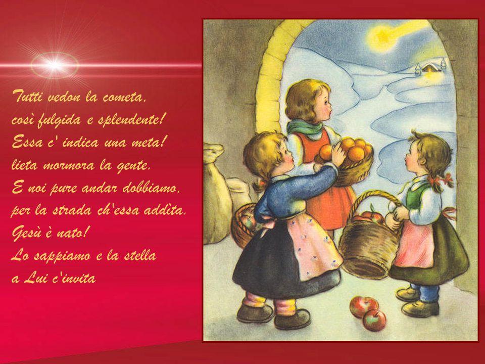 Gesù è nato! Osanna! col suo gregge ogni pastore corre verso la capanna, inneggiando al Redentore. Pieni i cuori di letizia. Alle genti più lontane, c