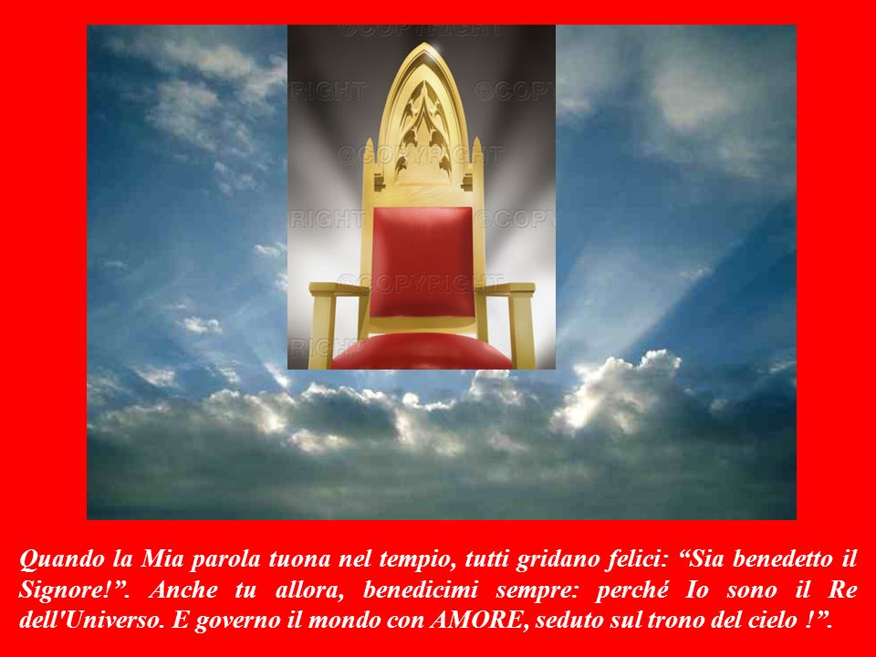 SALMO RESPONSORIALE (Salmo 28,1-2;3ac-4;3b.9-10) Questo salmo è Parola di Dio.