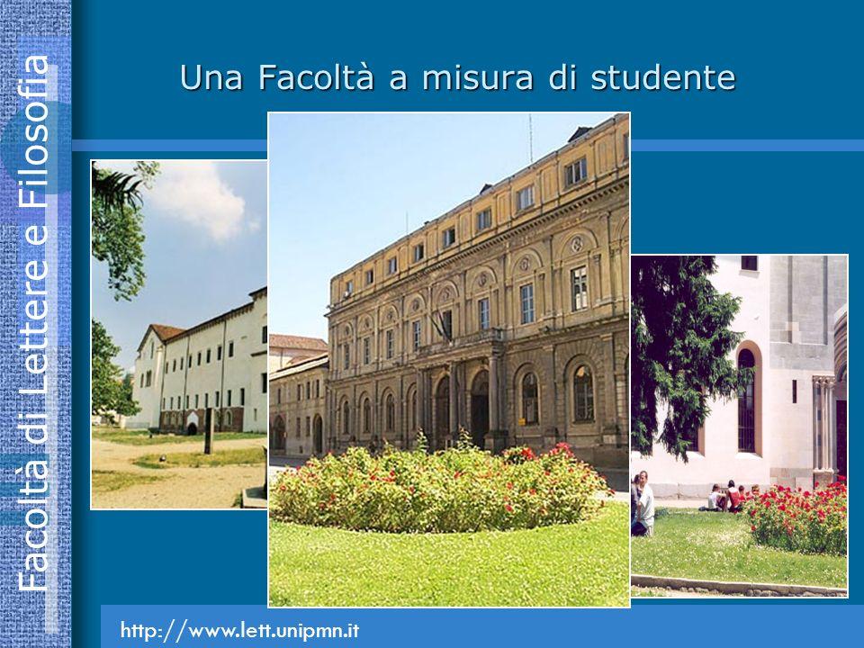 Facoltà di Lettere e Filosofia Una Facoltà a misura di studente http://www.lett.unipmn.it