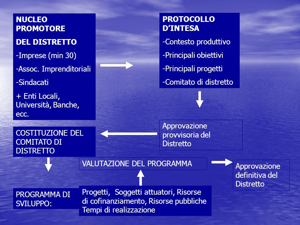 NUCLEO PROMOTORE DEL DISTRETTO -Imprese (min 30) -Assoc.