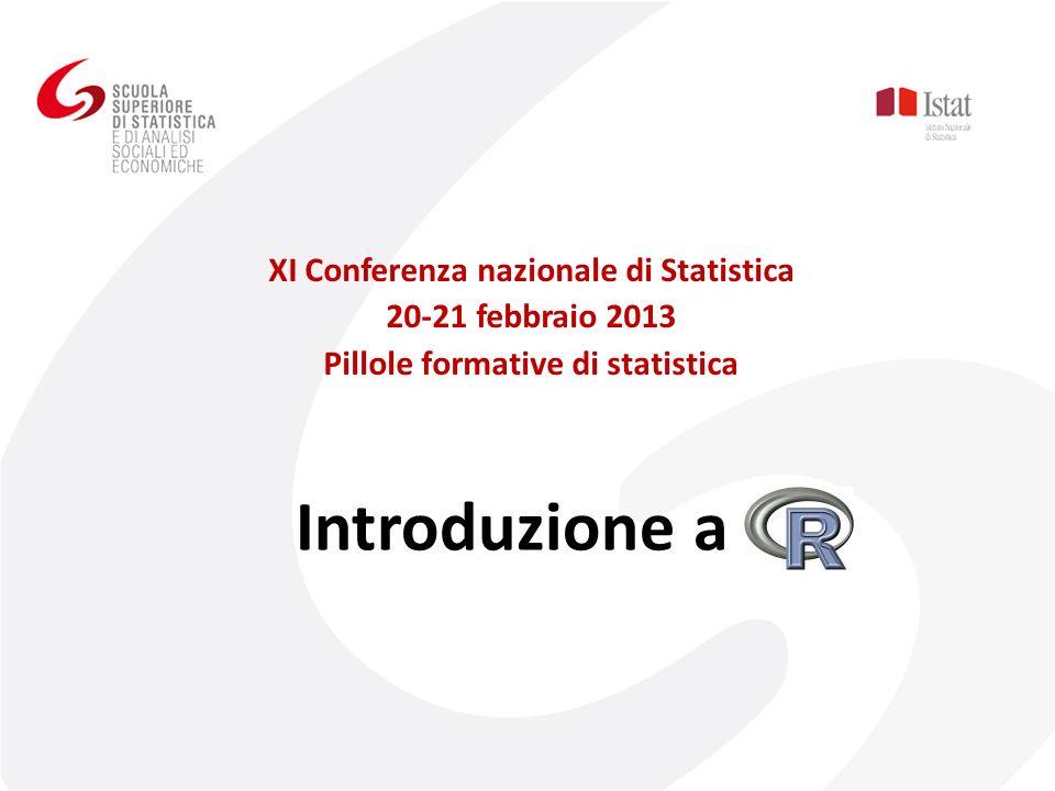 Introduzione a XI Conferenza nazionale di Statistica 20-21 febbraio 2013 Pillole formative di statistica