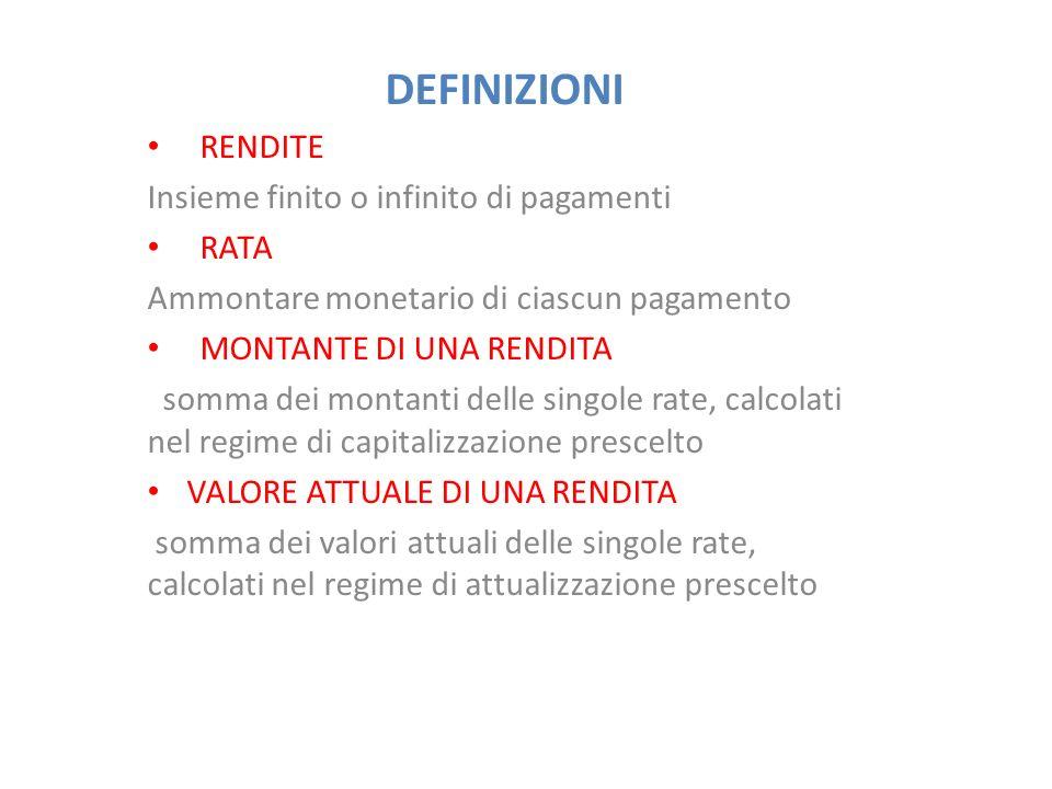 MONTANTE E VALORE ATTUALE DI RENDITA IMMEDIATA TEMPORANEA ANTICIPATA M = R.