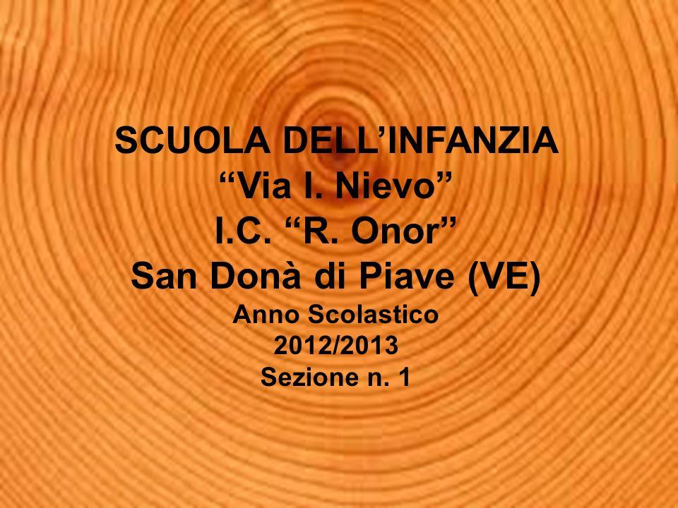 SCUOLA DELLINFANZIA Via I. Nievo I.C. R. Onor San Donà di Piave (VE) Anno Scolastico 2012/2013 Sezione n. 1