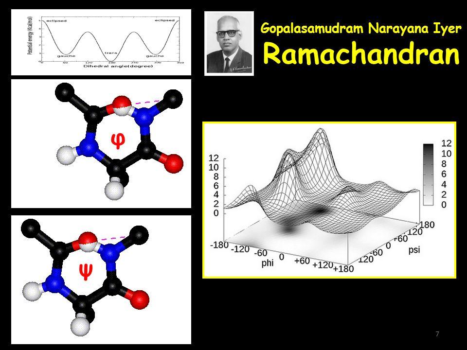 Gopalasamudram Narayana Iyer Ramachandran φ ψ 7