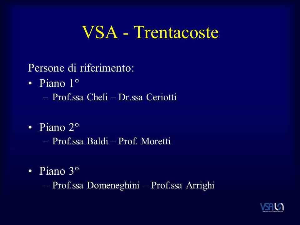 VSA - Trentacoste Persone di riferimento: Piano 1° –Prof.ssa Cheli – Dr.ssa Ceriotti Piano 2° –Prof.ssa Baldi – Prof.