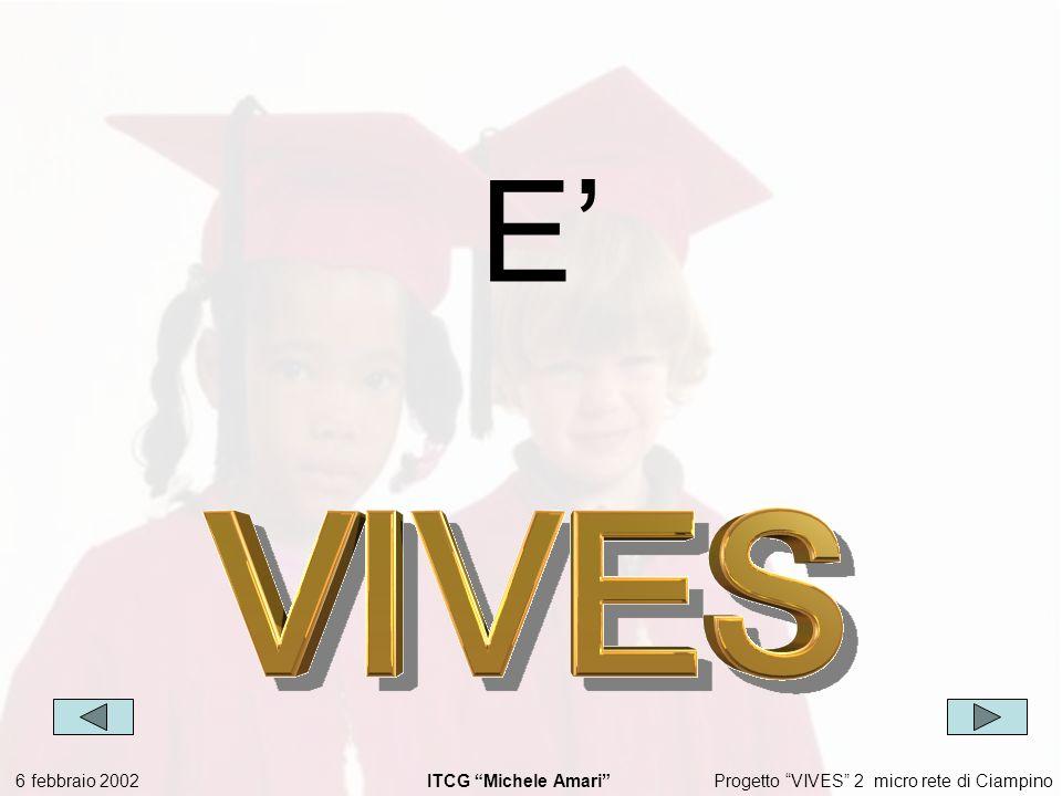 Progetto VIVES 2 micro rete di Ciampino 6 febbraio 2002 ITCG Michele Amari E