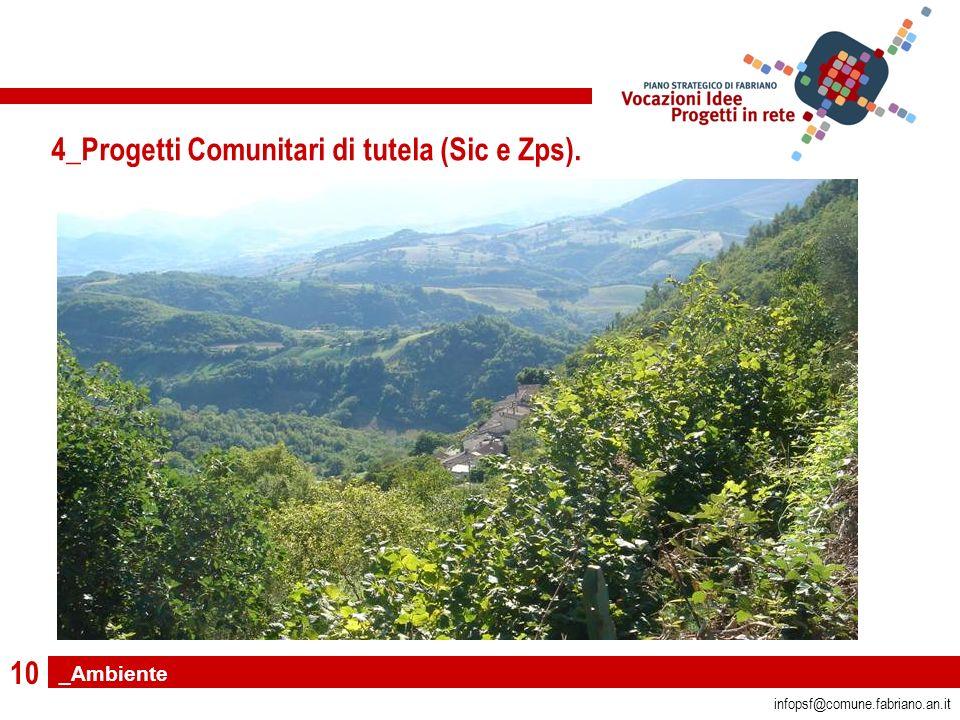 10 infopsf@comune.fabriano.an.it 4_Progetti Comunitari di tutela (Sic e Zps). _Ambiente