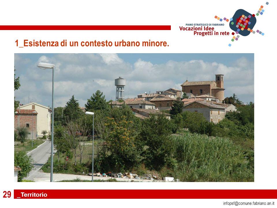 29 infopsf@comune.fabriano.an.it 1_Esistenza di un contesto urbano minore. _Territorio